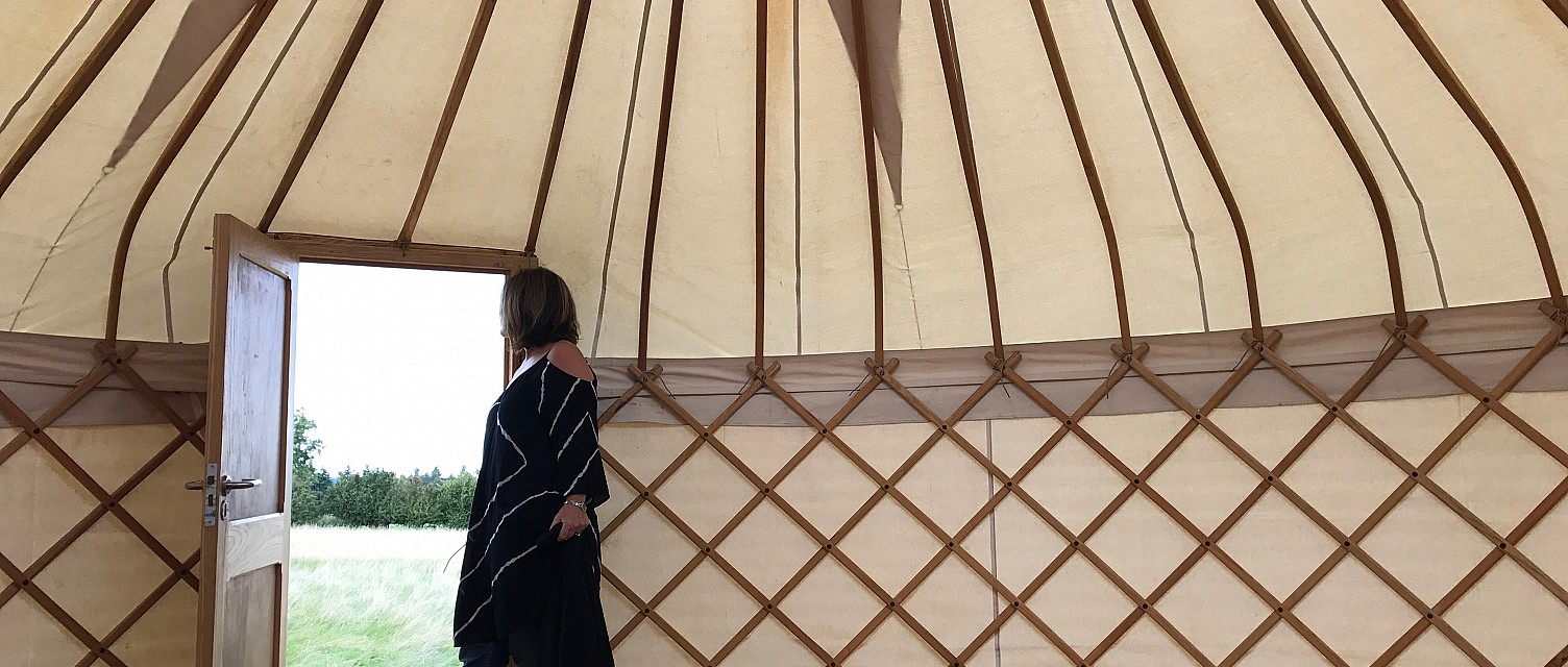 The First Yurt Goes Up